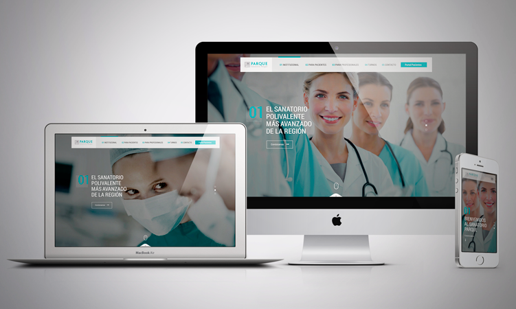 Sanatorio Parque presenta nueva web: Simple, intuitiva y en todos los dispositivos